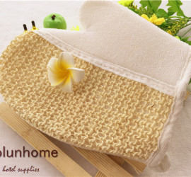 3-5 star disposable natural hotel loofah scrubber
