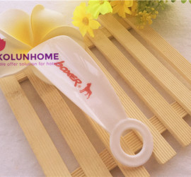 White plastic personalized shoe horn