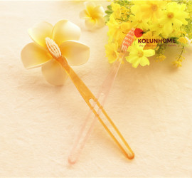 Various colors plastic toothbrush